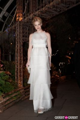 byrdie bell in New York Botanical Garden Winter Wonderland Ball