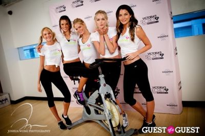 lily aldridge in Victoria's Secret Angels Gear Up For a Supermodel Ride Soulcycle to Benefit Pelotonia