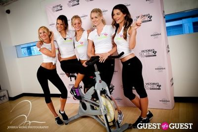 alessandra ambrosio in Victoria's Secret Angels Gear Up For a Supermodel Ride Soulcycle to Benefit Pelotonia