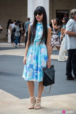 carla cabrera in Post BCBG Show Street Style