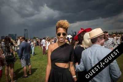 carly cushnie in Veuve Clicquot Polo Classic 2014