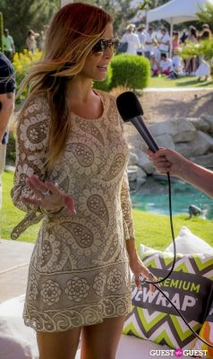 carmen electra in McDonald's Bootsy Bellows Estate in Rancho Mirage