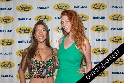 caroline alexa-mcbride in Serafina Harlem Opening