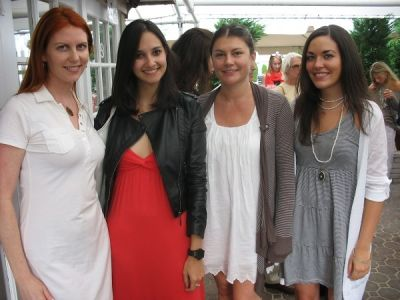 adrienne white in Serafina East Hampton Opening