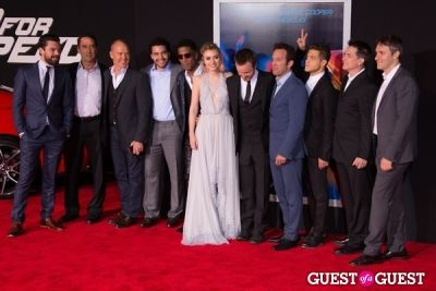 cast of-need-for-speed in U.S. Premiere Of Dreamworks Pictures