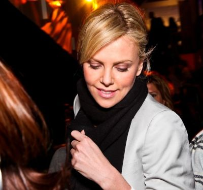 charlize theron in WHCD First Amendment Party
