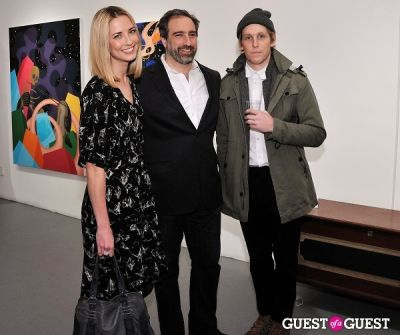 adam greenberger in Retrospect exhibition opening at Charles Bank Gallery