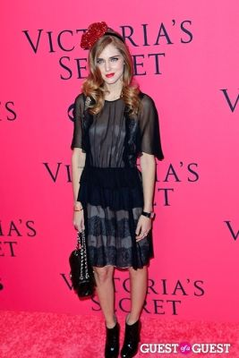 chiara ferragni in 2013 Victoria's Secret Fashion Pink Carpet Arrivals