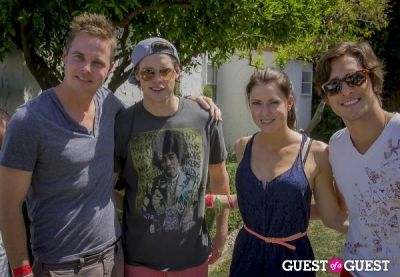 chord overstreet in The Guess Hotel Pool Party Saturday