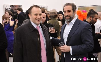 chris blum in Bowry Lane group exhibition opening at Charles Bank Gallery