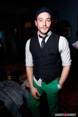 chris mcnally in Onassis Clothing and Refinery29 Gent's Night Out