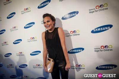 chrissy teigen in Samsung Hope For Children Gala 2013