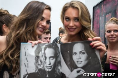 hannah davis in Galore Magazine Kick-Off Party