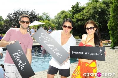 christine rangel in IvyConnect Hamptons Estate Pool Party