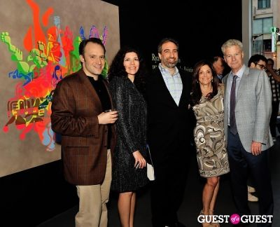 gail hirsch in Ryan McGinness - Women: Blacklight Paintings and Sculptures Exhibition Opening
