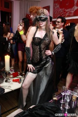 cindy guyer in R. Couri Hay's Le Bal Vampire II Halloween party at home 2010