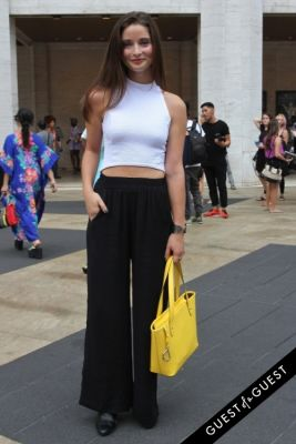 claire peltier in NYFW Style From the Tents: Street Style Day 3