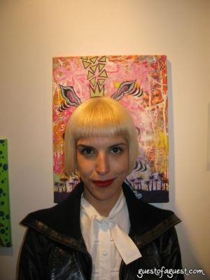 cristina vallecilla in Damon Johnson Gallery Opening
