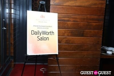 dailyworth salon-welcome-sign in DailyWorth Salon & Dinner