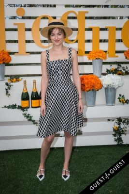 dakota johnson in Veuve Clicquot Polo Classic 2014