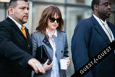 dakota johnson in NYFW Street Style Day 7