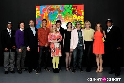 gina fraone in Ryan McGinness - Women: Blacklight Paintings and Sculptures Exhibition Opening
