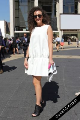dana alhanbali in NYFW Style From the Tents: Street Style Day 1