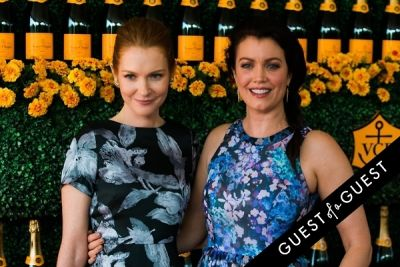 darby stanchfield in The Sixth Annual Veuve Clicquot Polo Classic Red Carpet