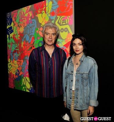 david bryne in Ryan McGinness - Women: Blacklight Paintings and Sculptures Exhibition Opening