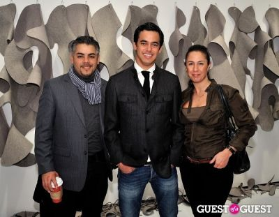 "pinar lacroix in Ricardo Rendon ""Open Works"" exhibition opening"