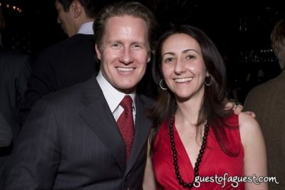david plonsky-and-dina-pagnotta in American Heart Association Young Professionals Toast American Heart Month