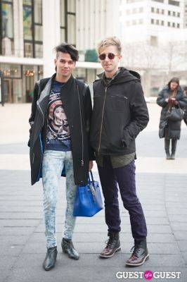 david richards in NYC Fashion Week FW 14 Street Style Day 7