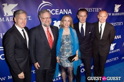 david rockefeller in Oceana's Inaugural Ball at Christie's
