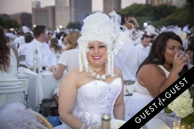debra scotti in Diner En Blanc NYC 2014