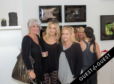 dee turpack in Lisa S. Johnson 108 Rock Star Guitars Artist Reception & Book Signing