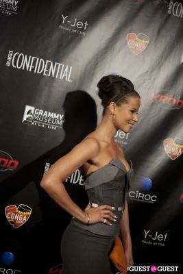 denise vasi in Los Angeles Confidential Grammy Party With Robin Thicke - Arrivals