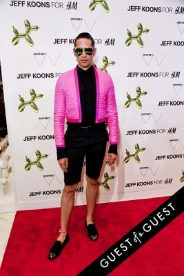 di mondo in Jeff Koons for H&M Launch Party