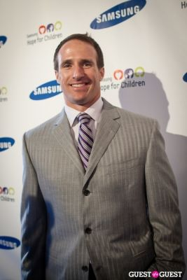 drew brees in Samsung Hope For Children Gala 2013