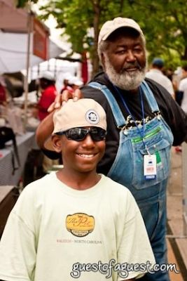ed mitchell-with-nephew-and-heir in Snapple Big Apple Barbecue Block Party