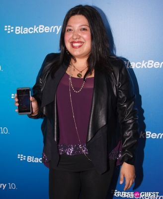 elizabeth de-razzo in BlackBerry Z10 Launch