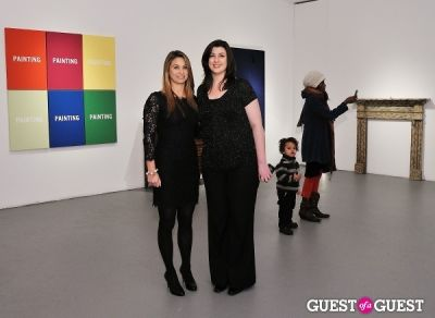 gina fraone in Retrospect exhibition opening at Charles Bank Gallery