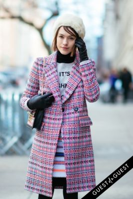 ella catliff in NYFW Street Style Day 5