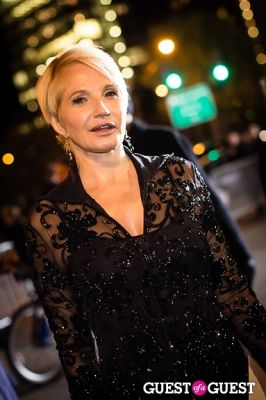 ellen barkin in Giorgio Armani One Night Only NYC event.