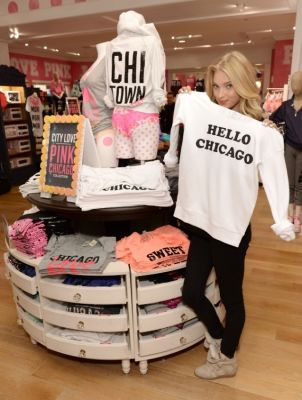 elsa hosk in Victoria's Secret PINK model Elsa Hosk hosts live 2013 Victoria's Secret Fashion Show Viewing Party in Chicago
