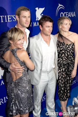 luke hemsworth in Oceana's Inaugural Ball at Christie's