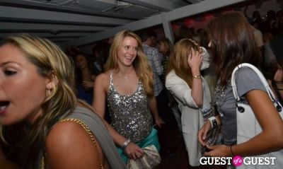 emily savage in Blue and Cream party at Georgica with Samantha Ronson