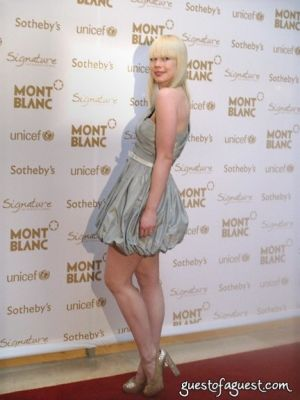 erin featherston in Mont Blanc Benefit, UNICEF @ Sothbys NYC