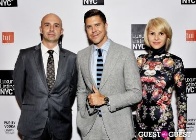 ernest kawecki in Luxury Listings NYC launch party at Tui Lifestyle Showroom