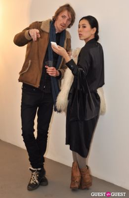 mai ueda in Barnaby Hosking - New Works opening at Charles Bank Gallery
