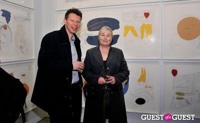 etienne lullin in Jorinde Voigt opening reception at David Nolan Gallery